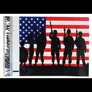 25 US Flag Poly Mailer 10x13 Patriotic Double Side